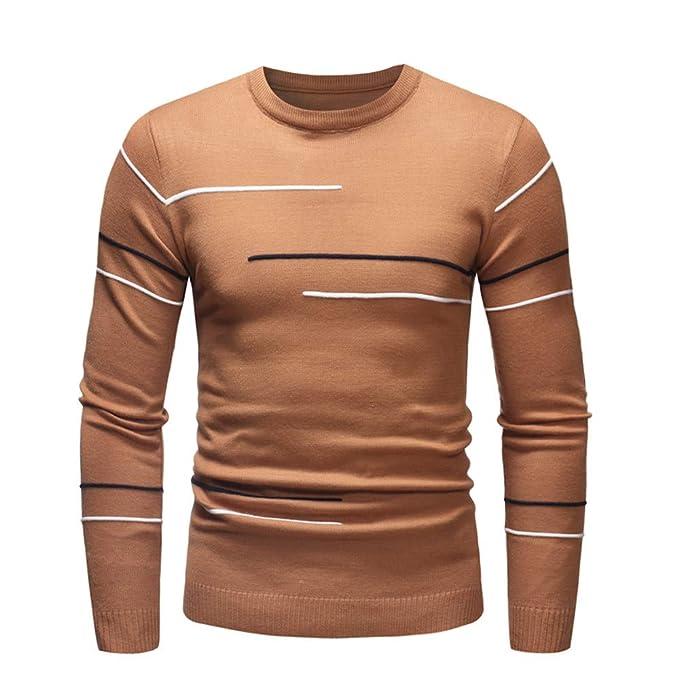 491a6640f Suéter para Hombre, Hombres otoño Invierno suéter Jersey Slim Jersey ...