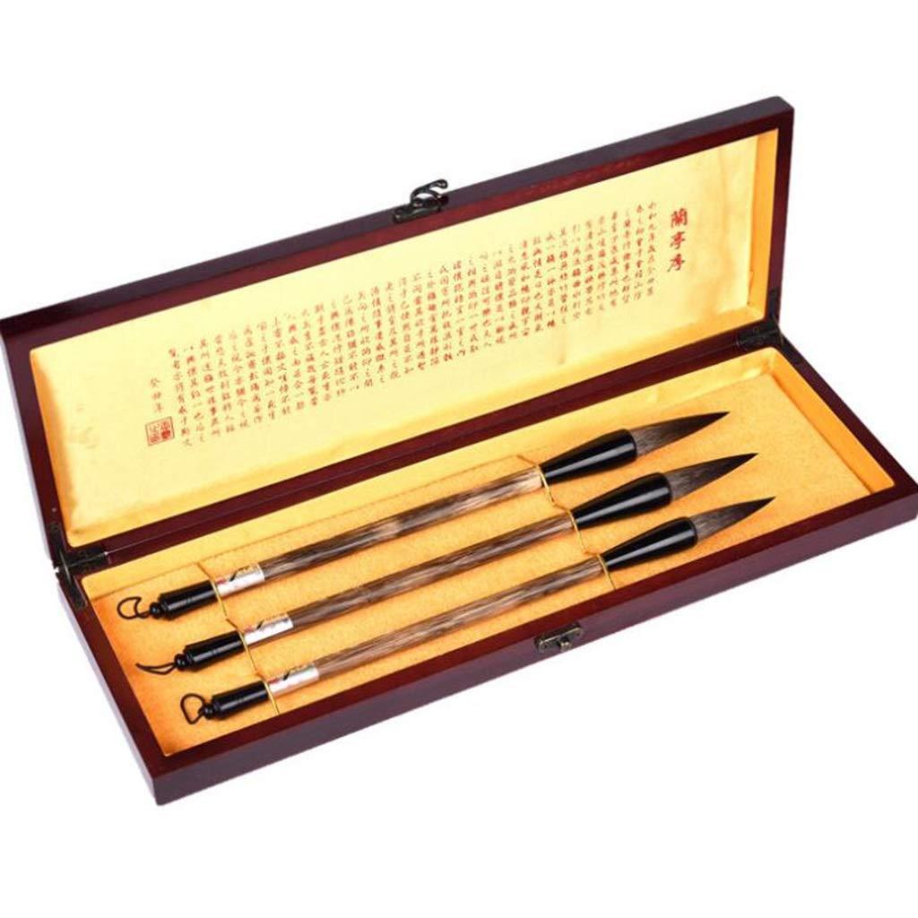 QTT Writing Brush, 3 Sets of Writing Brushes, Large, Medium and Small Landscape Painting Brush