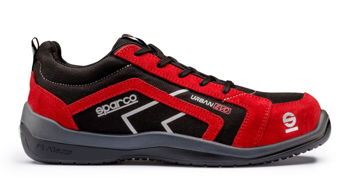 Negro//rojo Sparco 0751844NRRS Zapatillas