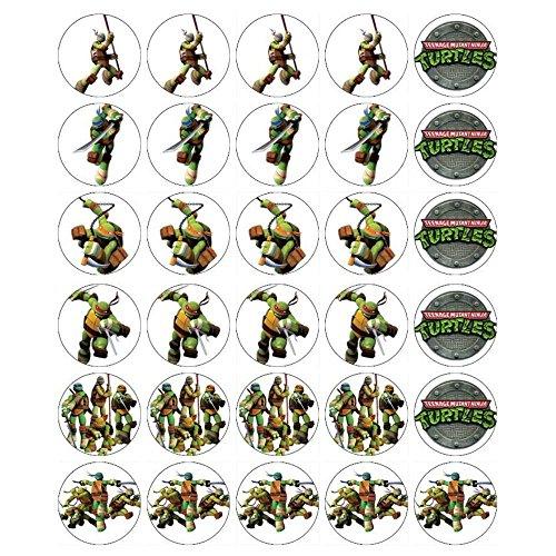 Teenage Ninja Turtle Cupcake Toppers Edible Wafer Paper BUY 2 GET3RD FREE ()