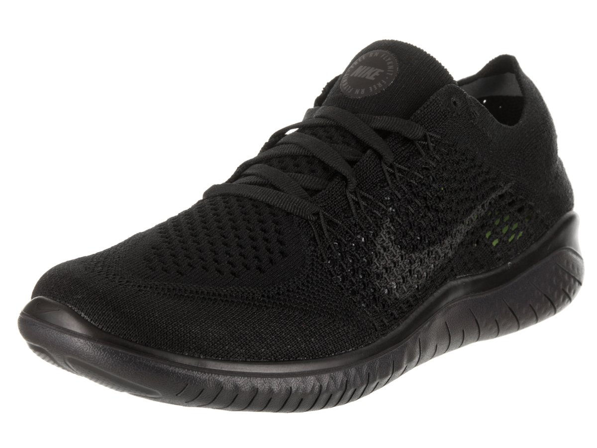 Nike Women's Free Rn Flyknit 2018 Running Shoe (6 M US, Black/Anthracite) by Nike (Image #1)