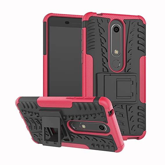 super popular cd8e2 7d538 LEECOCO Case for Nokia 6.1 Heavy Duty Tough Armor Box Dual Layer Hybrid  Otterbox Hard PC and Soft TPU Shockproof Protective Defender Case for Nokia  6 ...