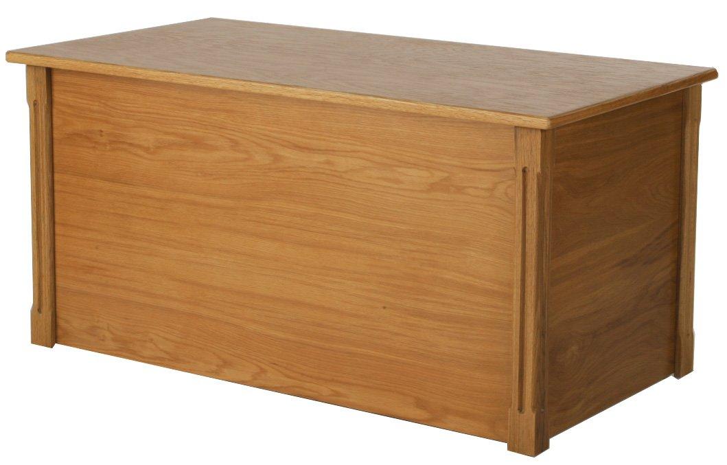 Large Oak Wooden Toy Box and Blanket Chest - All Wood - Optional Cedar Base (Cedar Base)