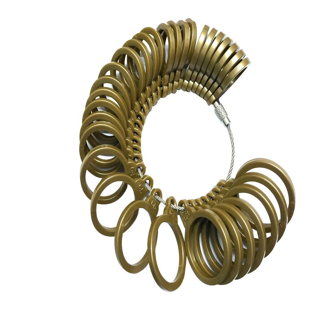 MonkeyJack Finger Size Measuring Ring-Ring Sizing Finger Size Gauge Jewelry Sizer Tool-Ring Finger Sizer