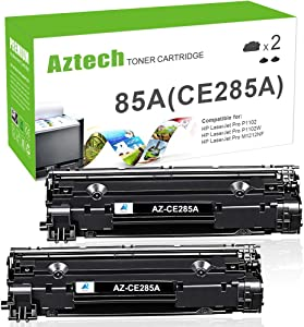Aztech Compatible Toner Cartridge Replacement for HP CE285A 85A CE285 Laserjet Pro P1102W M1212nf M1217nfw P1100 M1210 (Black, 2-Pack)