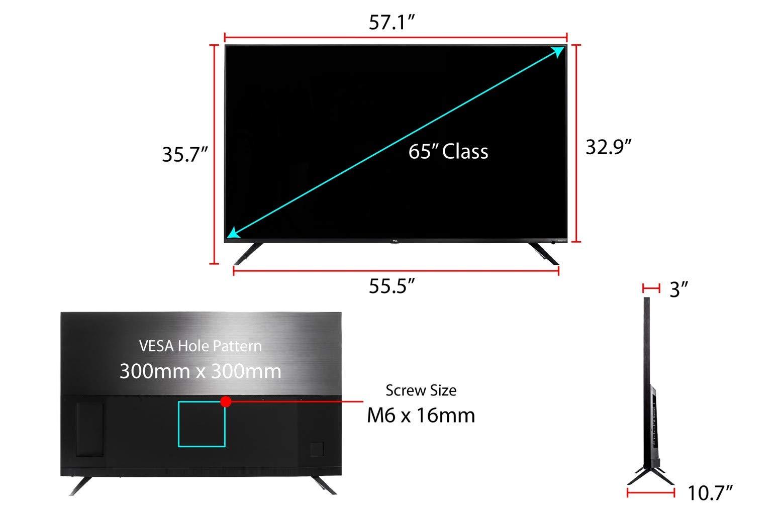 TCL 65R617 65-Inch 4K Ultra HD Roku Smart LED TV (2018 Model) by TCL (Image #6)
