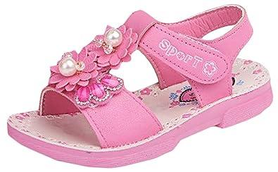 Amplaue Mädchen Sommer Glitzer Kinder Sandalen Sandaletten flache UqSMVpGz