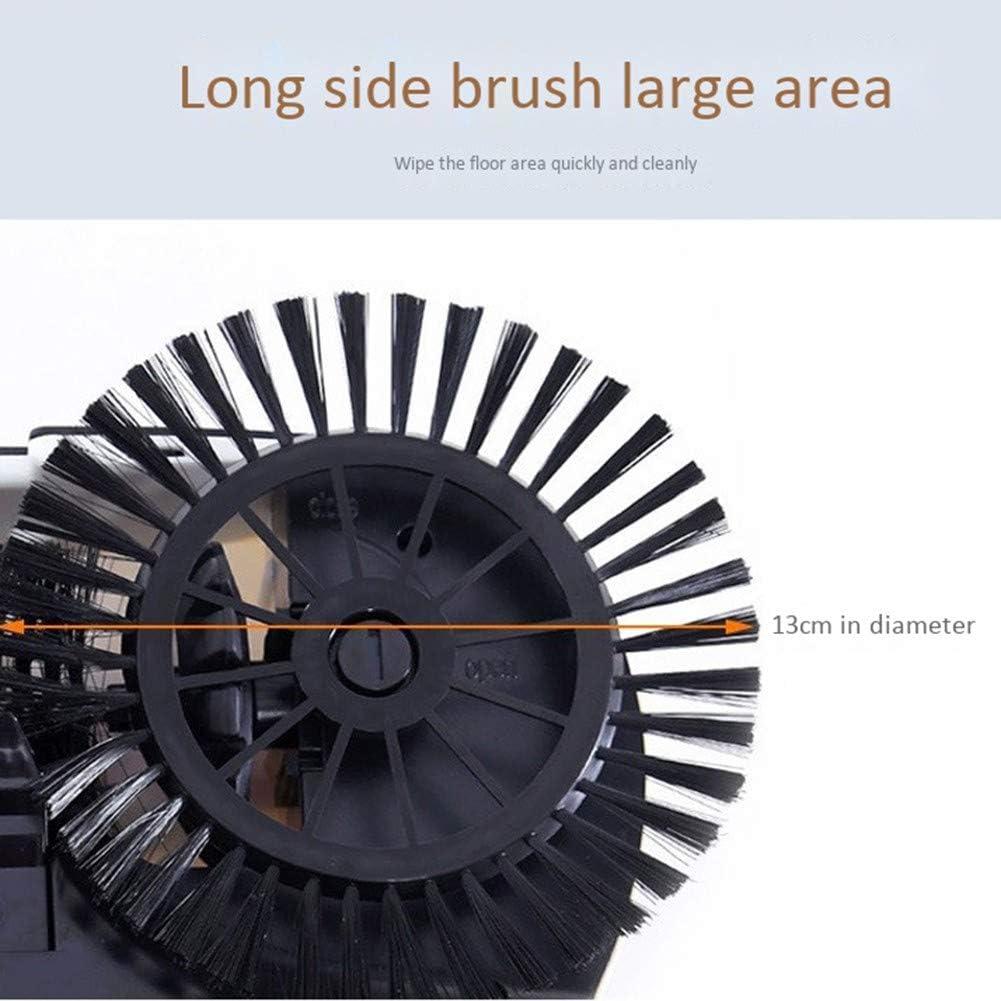 Machine De Nettoyage Multi-Fonctions pour La Maison avec Poussoir Manuel 360 ° Rotatif Réglable Vadrouille Deux en Un Black