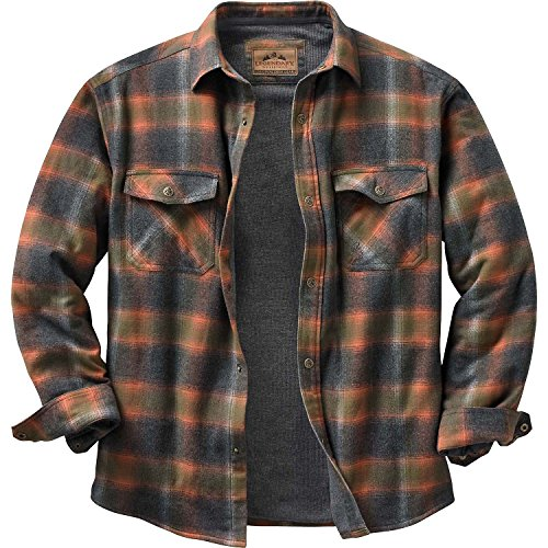 Legendary Whitetails Men's Archer Thermal Lined Shirt Jacket Tobasco Plaid Medium