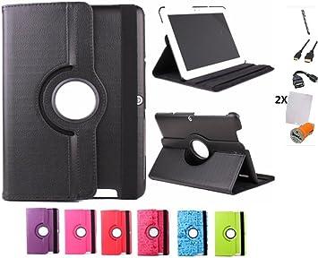 """Image of Pack 7 en 1 Funda para Tablet Bq Edison 3 Quad Core 10.1"""" con Función Stand y Giratoria 360º + Accesorios"""