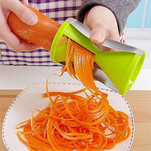 Lucrative shop Grater Vegetable Spiral Slicer Cutter Spiralizer for Carrot Cucumber (Hi Rise Soap)