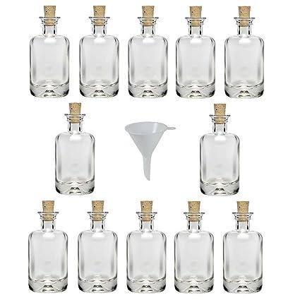 Viva-artículos de uso doméstico - 12 mini botellas de cristal farmacéutico 40 ml/