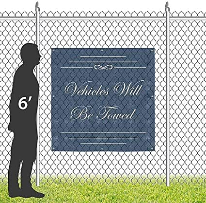 Basic Navy Wind-Resistant Outdoor Mesh Vinyl Banner Do Not Touch CGSignLab 12x3