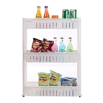 Labellevie Carro de almacenamiento Armario de la cocina Estantería de cocina Carrito 3 etapas