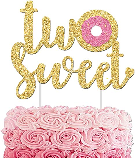 Miraculous Amazon Com Two Sweet Cake Topper Donut 2St Birthday Cake Personalised Birthday Cards Paralily Jamesorg