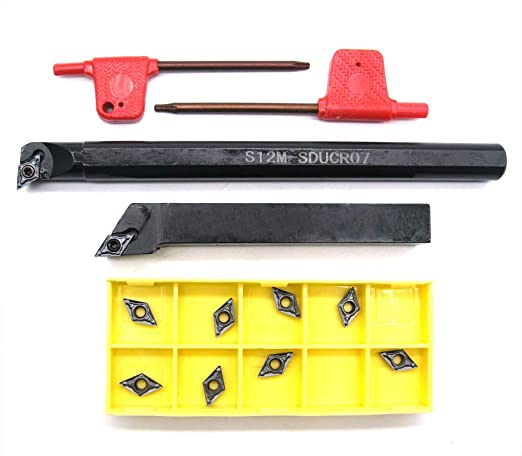 Lathe Internal Boring Bar Turning Tool Holder Lathe Turning Tool Boring Bar Tungsten Steel CNC Holder Handle Accessories SHB 20‑04 Boring Bar Metal Lathe Turning Tools
