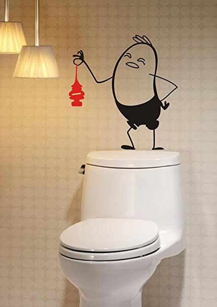 DECOR Kafe Decal Style Decal Style Bathroom Wall Sticker Wall poster (PVC  vinyl, 43