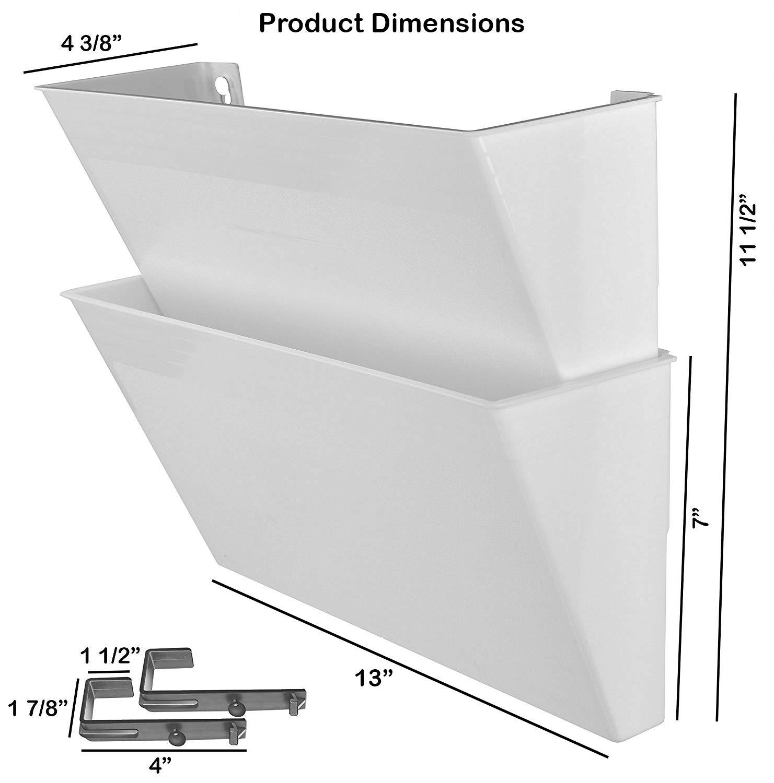 Acrimet Archivador Modular de Pared (2 Unidades) (Color Transparente): Amazon.es: Oficina y papelería