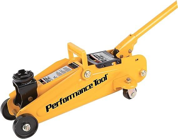 Performance Tool W1606 Yellow Steel Frame-TROLLEY JACKS 2 Ton (4