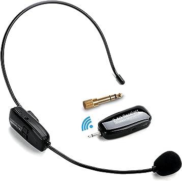 2.4G Micrófono Inalámbrico, Jelly Comb Transmisión Inalámbrica ...
