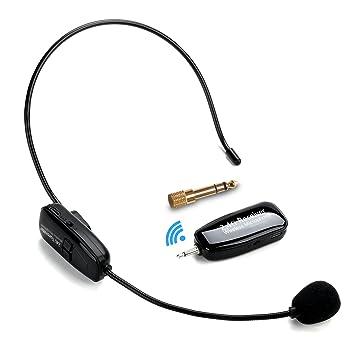 2.4G Micrófono Inalámbrico, Jelly Comb Transmisión Inalámbrica Estable 30m, Micrófono Altavoz Auricular y