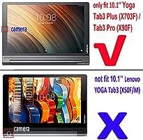 Lenovo Yoga Tab 3 Plus Funda Folio, Lenovo Yoga Tab 3 Pro Teclado Funda, Cuero Funda Protectora Inteligente con Teclado Bluetooth Extraíble Para 10.1