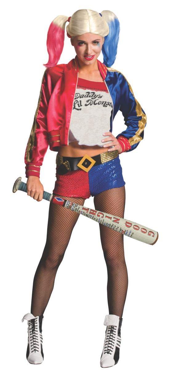 ATTENZIONE: SOLO LA MAZZA DA BASEBALL PARRUCCA ED ACCESSORI NON INCLUSI COSTUME Mazza da baseball gonfiabile bastone di Harley Quinn Suicide Squad Margot Robbie