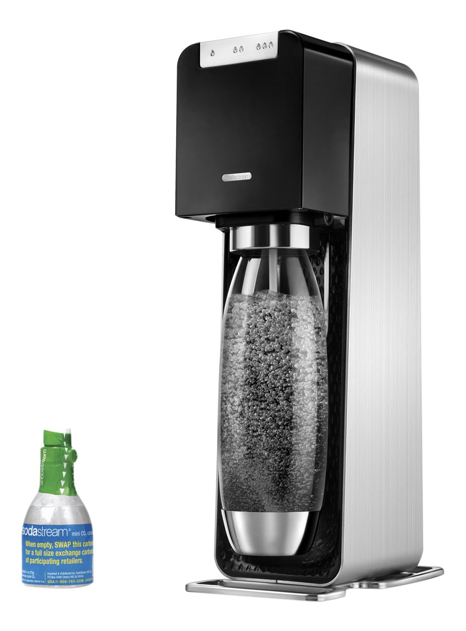 SodaStream Power Metal Sparkling Water Maker Starter Kit, Black by SodaStream