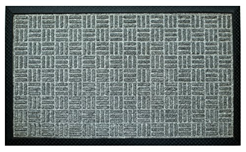 Iron Gate - Gatekeeper Doormat 18x30 Light Grey - Extremely Sturdy and Rugged Construction 69 Ounces / 6000 GSM - Polypropylene Surface & Rubber Back for Better Floor Grip - Indoor/Outdoor use