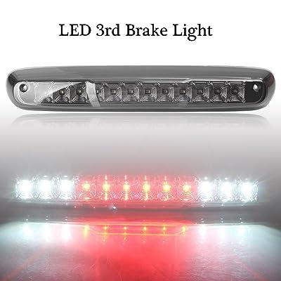 Mallofusa LED Third Brake Light For 2007-2013 Chevy Silverado 1500 2500 3500 GMC Sierra 1500 2500 3500 Smoke High Mount 3RD Brake Light Red & White LED: Automotive
