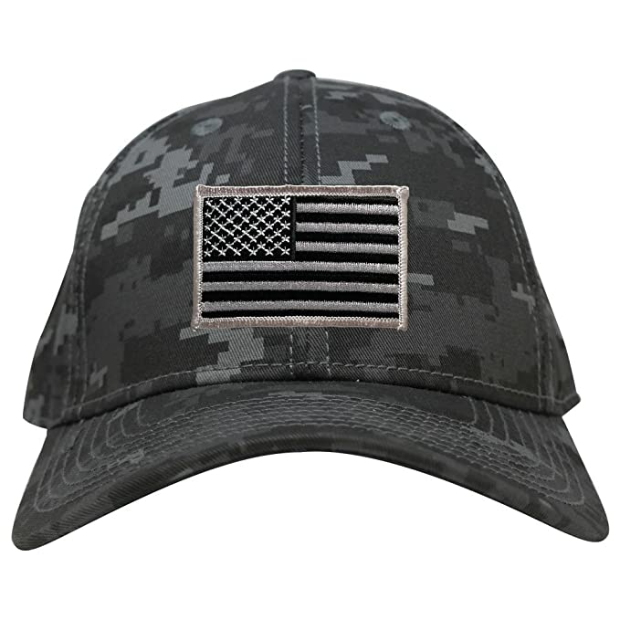 Low Profile US American Flag Patch Camo Cap - NTG - Black Grey at ... c7ba80c6549