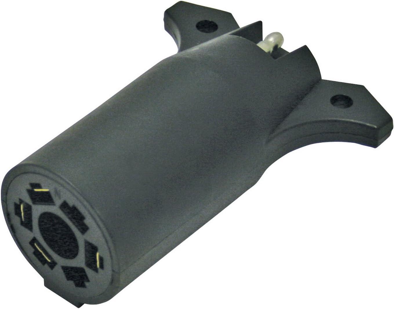Reese Towpower 74607 7-Way to 4-Way Flat Blade Wiring Adapter Black