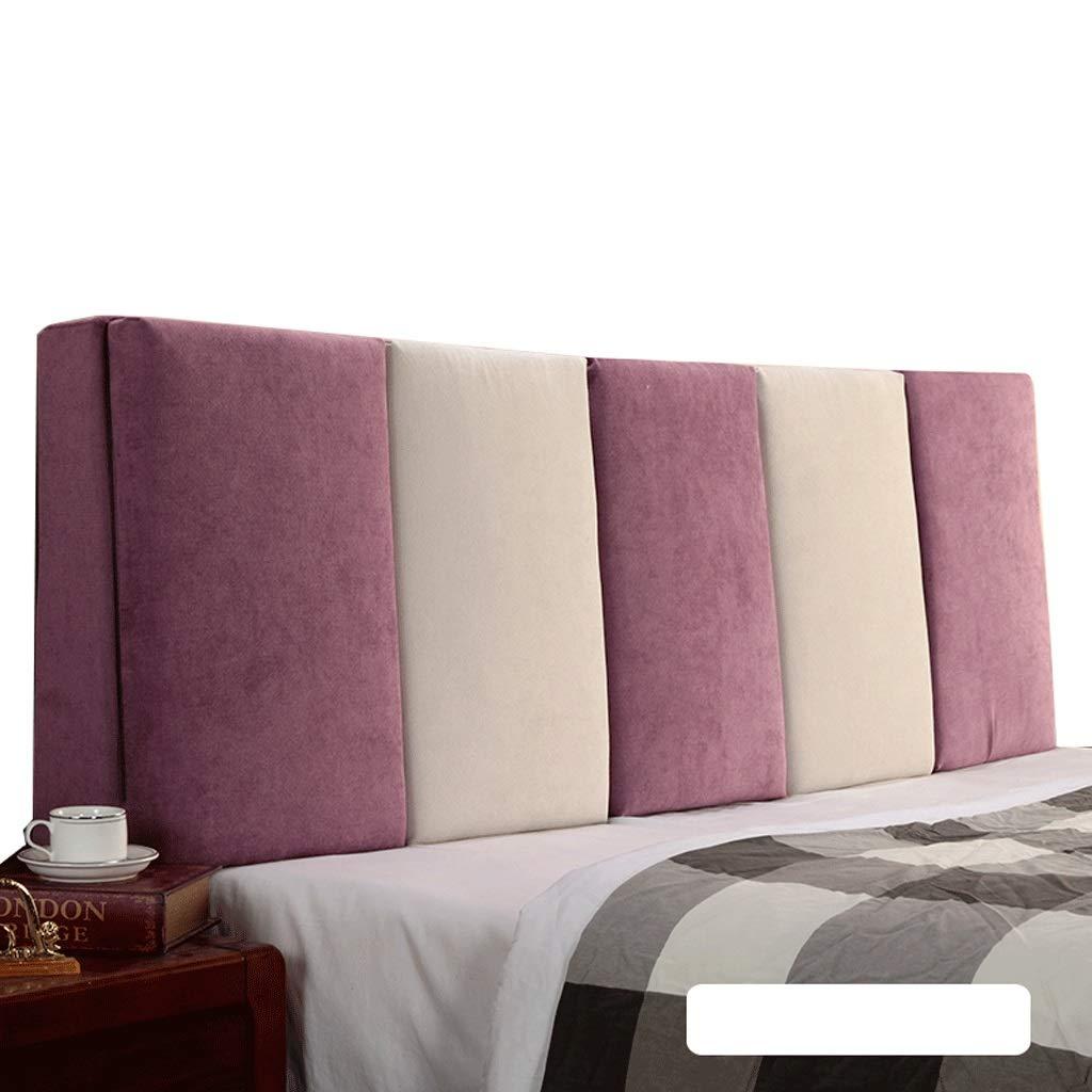【超新作】 ベッドサイド ダブルベッド背もたれクッションヘッドボードソファ張りの柔らかい枕腰椎パッド取り外し可能、7色、6サイズ (色 160cm) : サイズ Gray+Beige, 150cm サイズ さいず : 160cm) B07R6PX1ND 150cm|Purple+Beige Purple+Beige 150cm, ユアハピネス:8910f6dc --- arbimovel.com.br