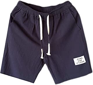 ouxiuli Men's New Cool Straight Fit Stretch Solid Flat Front Short