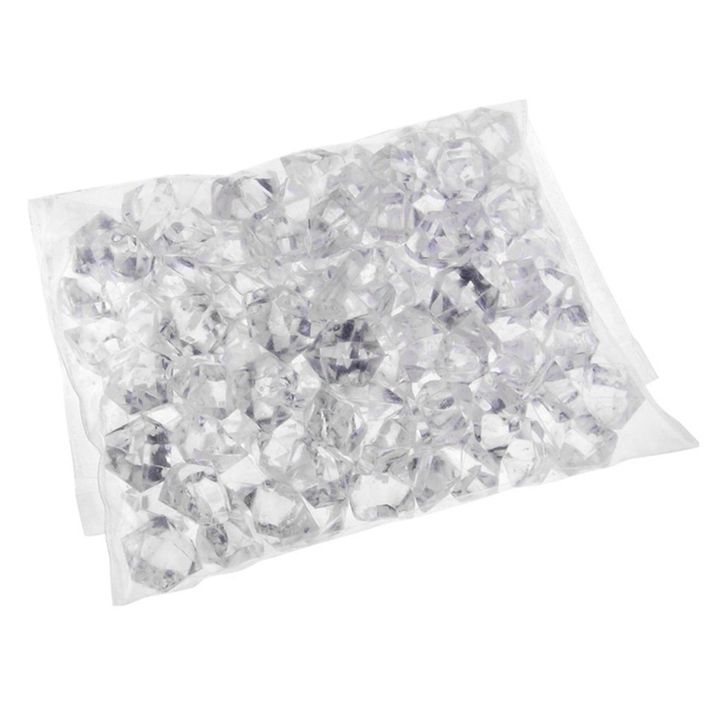 1 Pack Translucent Clear Acrylic Ice Rocks Gems Crystal for Vase Fillers or Table Scatters