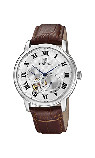 Festina Reloj Análogo clásico para Hombre de Automático con Correa en Cuero F6858/1: Festina: Amazon.es: Relojes