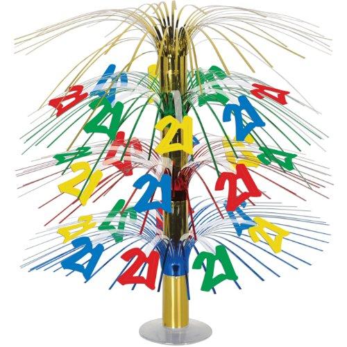 21 Cascade Centerpiece (multi-color) Party Accessory  (1 count) (1/Pkg) (Birthday Cascade)