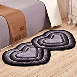FZFZFZ carpet, European style living room room bedroom Bedside mats child lovely Marriage room Heart-shaped carpet 0.71.4m Soft and comfortable (Color : Silver gray)