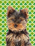 Cheap Caroline's Treasures KJ1202GF St. Patrick's Day Yorkie Puppy/Yorkshire Terrier Flag, Small, Multicolor