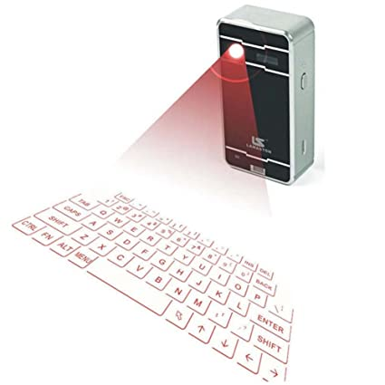 Wireless Mini Projection Virtual Bluetooth Laser Keyboard for Smart Phone Tablet PC Laptop  Silver  Keyboard   Mouse Sets