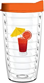 product image for Smile Drinkware USA-TEQUILLA SUNRISE 16oz Tritan Insulated Tumbler With Lid and Straw
