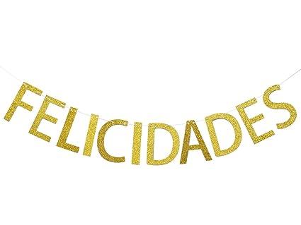amazon com felicidades gold glitter banner congratulations banner