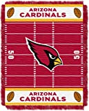 """The Northwest Company Officially Licensed NFL Arizona Cardinals Field Bear Woven Jacquard Baby Throw Blanket, 36"""" x 46"""""""