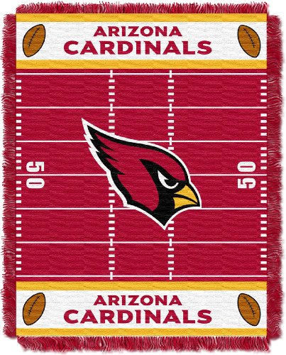 The Northwest Company Officially Licensed NFL Arizona Cardinals Field Bear Woven Jacquard Baby Throw Blanket, 36