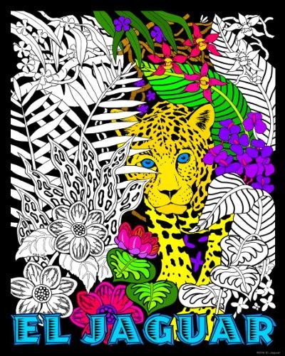 Jaguar Poster Velvet (Stuff2Color El Jaguar - 16x20 Fuzzy Velvet Poster)