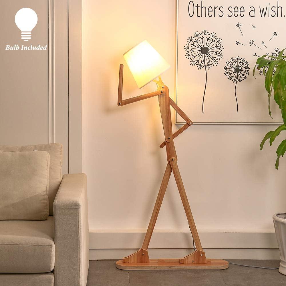 Modern Contemporary Decorative Wood Floor Lamp