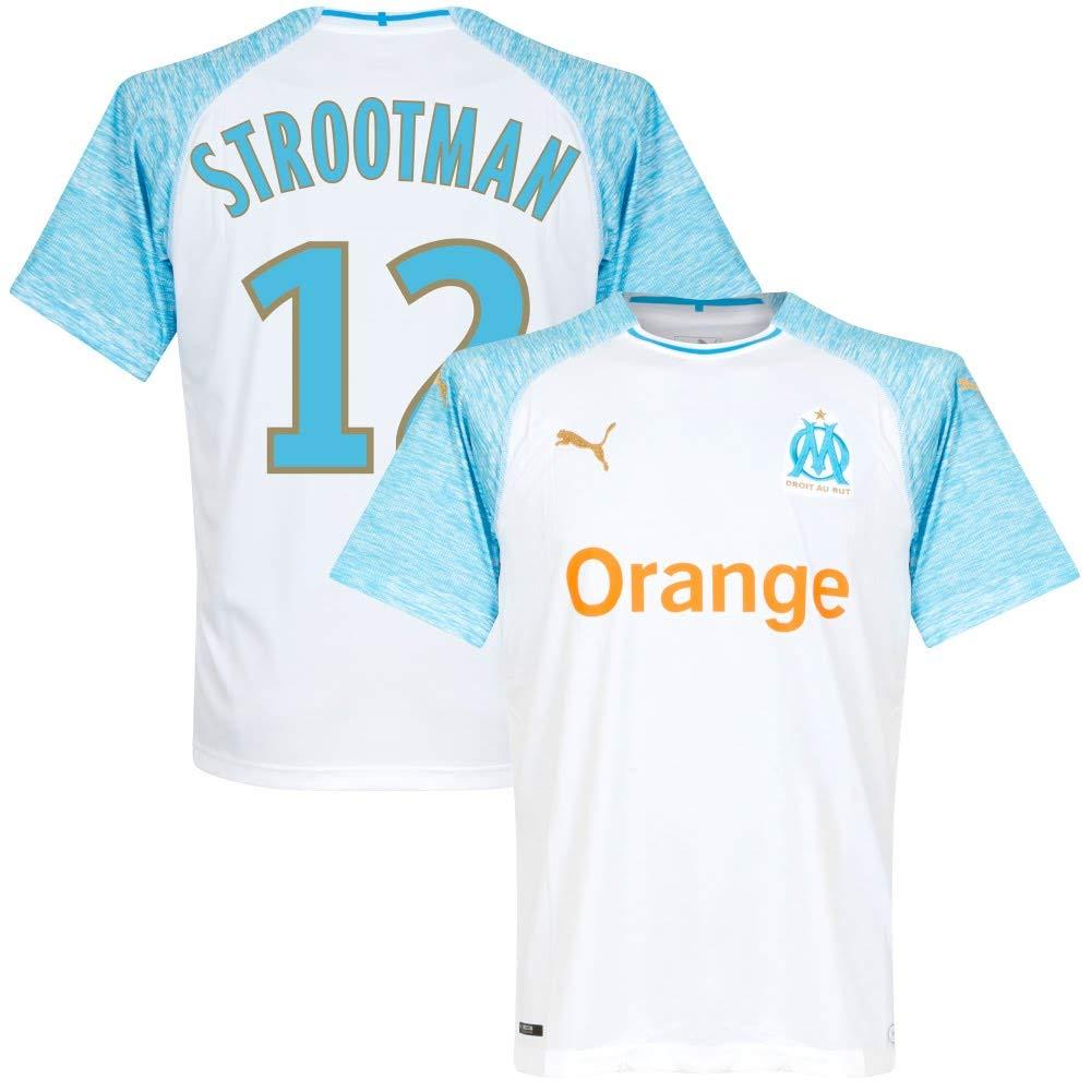 Olympique Marseille Home Trikot 2018 2019 + Strootman 12 (Fan Style)