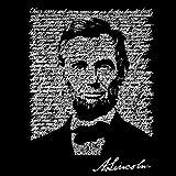 Women's Hooded Sweatshirt - Abraham Lincoln - Gettysburg Address - Black - X-Large