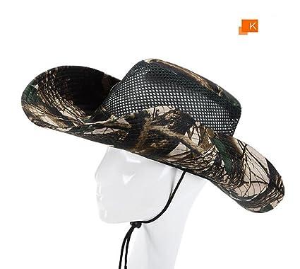 TREESTAR Camuflaje Pescador Sombrero de Pesca de los Hombres Sombrero de protección al Sol al Aire