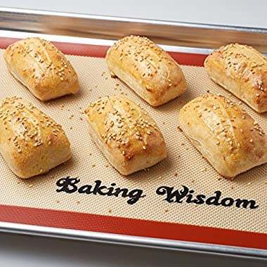 Baking Silicone Mat Set of 2 Non-stick Sheets Highly Durable Anti Slip Heat Resistant